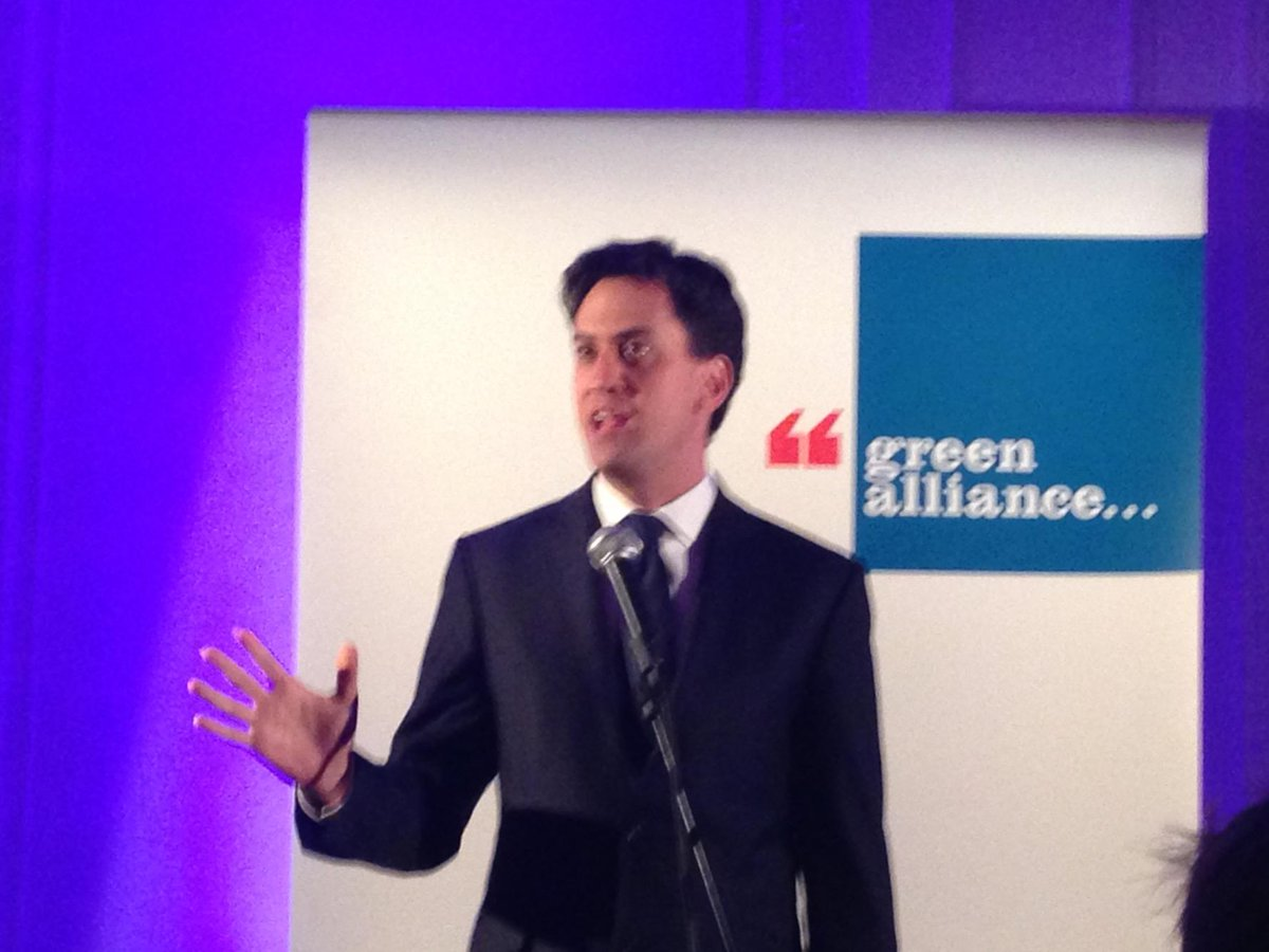 Ed Milliband says you can't divorce environmental and economic strategies @GreenAllianceUK 35th bday. #greenerbritain http://t.co/LqODHHJJnk