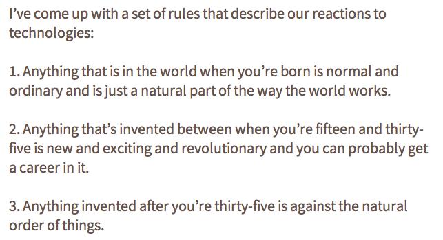 Douglas Adams on Tech