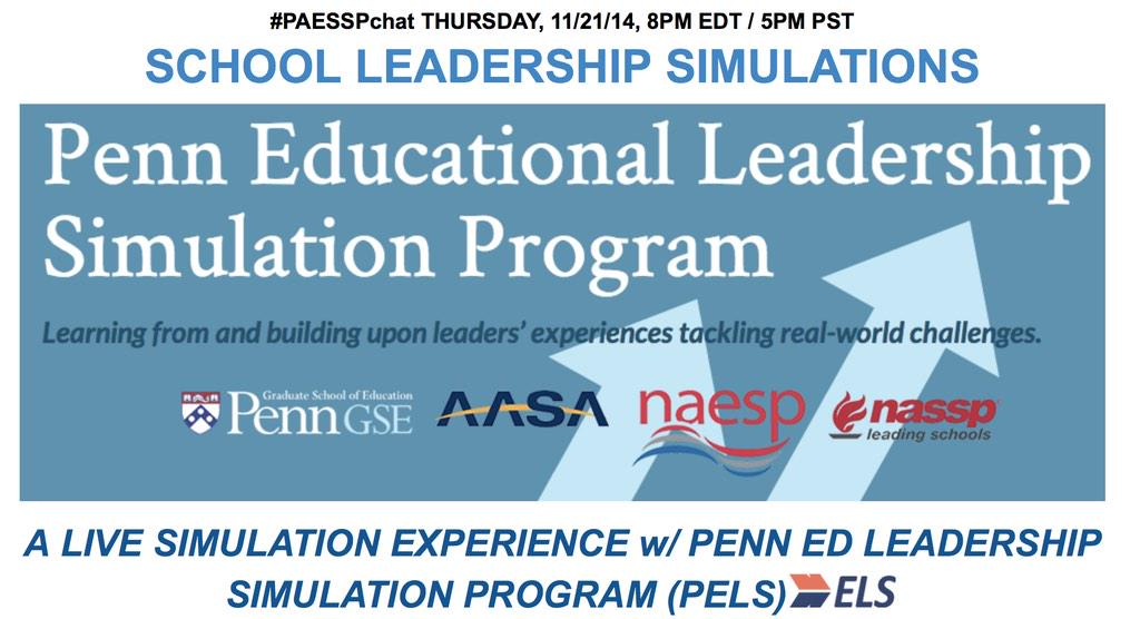 "In 90 Minutes - Join us for #PAESSPchat on Leadership Simulations. More on ""Sims"" here http://t.co/JKhBQNEA1W http://t.co/3huti4D9xG"
