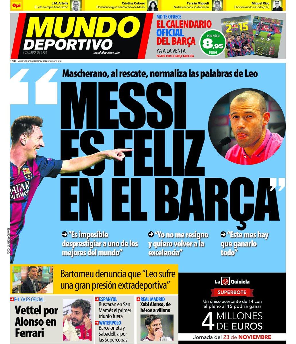 Portada Mundo Deportivo del 21 de Noviembre