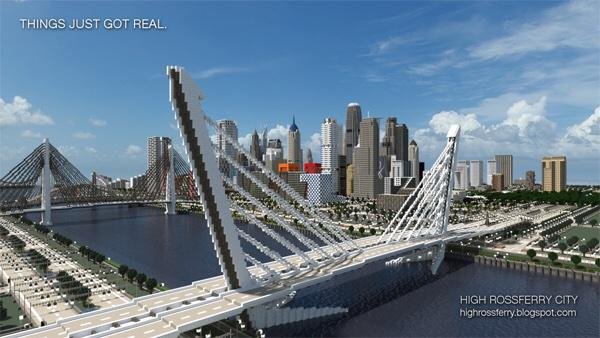 Minecraft Builds On Twitter Cool Bridge Cool City Epic Build