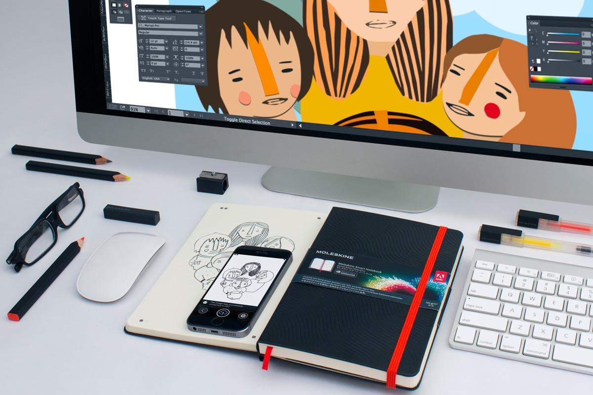 Turn your @Moleskine notebook sketches into digital files for @Adobe Illustrator and Photoshop http://t.co/EsYQC5FhL6 http://t.co/KVR64SLsOW