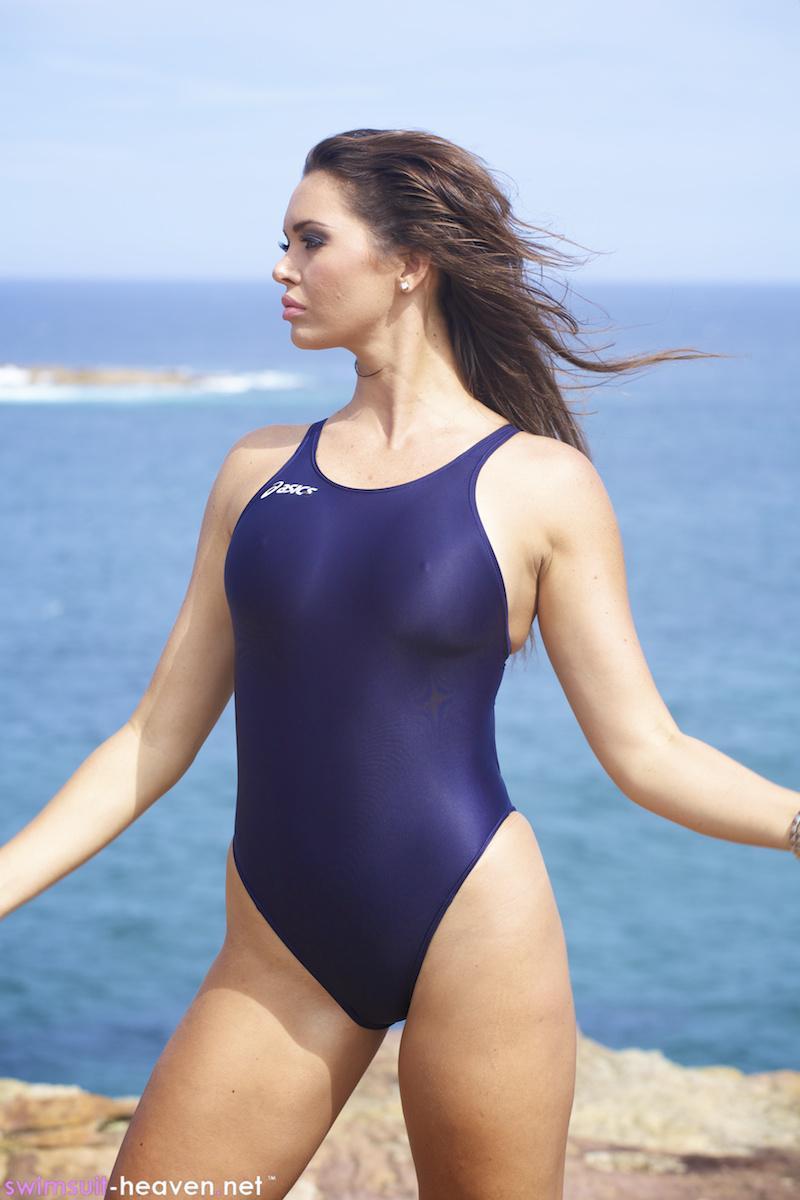 asics swimwear Grey