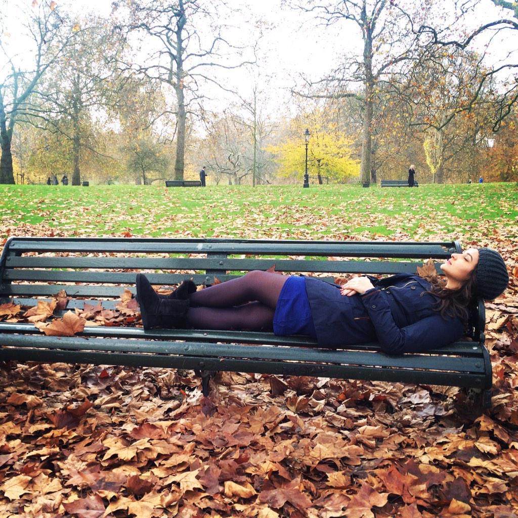 Parineeti sleeping in London