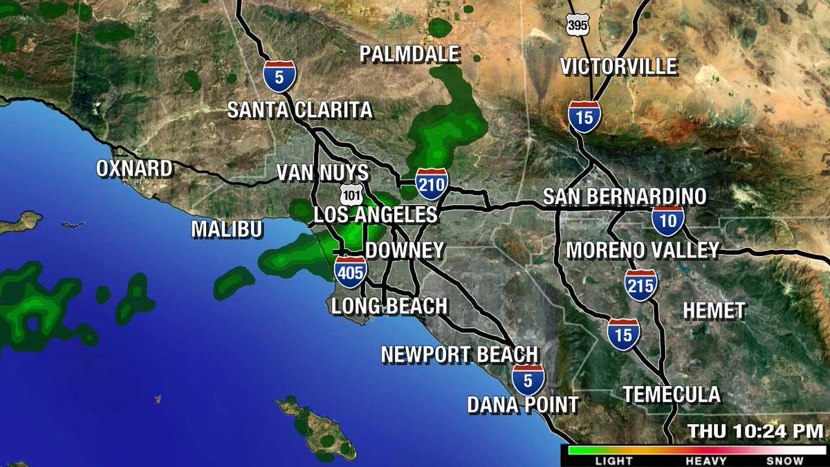 Light Rain Falling In Southern California Live Mega