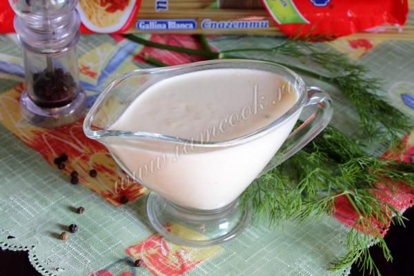 Сливочный соус для трески