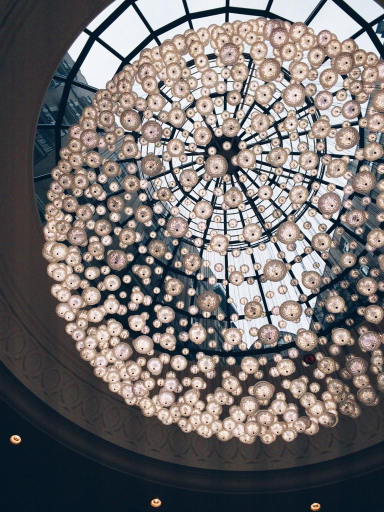From my last stay at @CorinthiaLondon, the ultimate chandelier, circles on circles, #FriFotos #london #hotels http://t.co/C6vEq54W6q