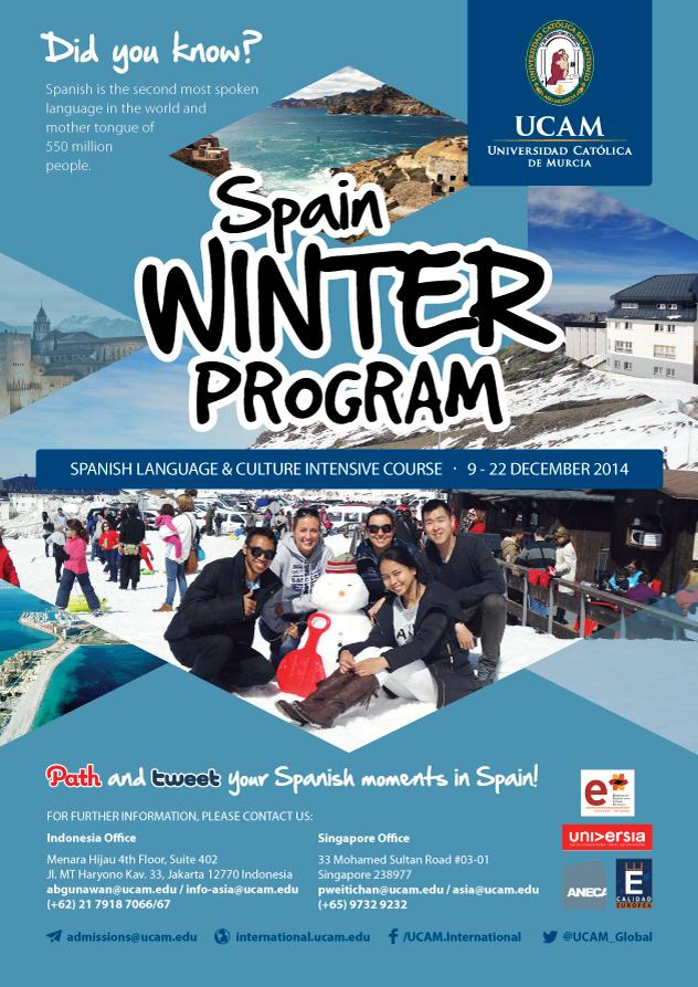 Want to do something exciting over the Christmas holidays? Join UCAM´s Winter Program! http://t.co/oClcrQNFDF