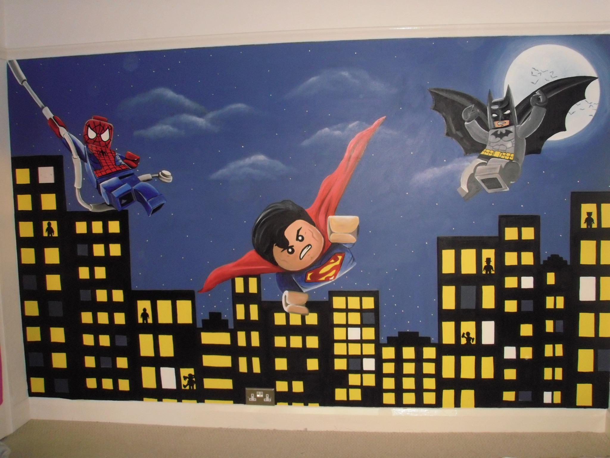 custom murals blog 17 best images about superhero murals on pinterest