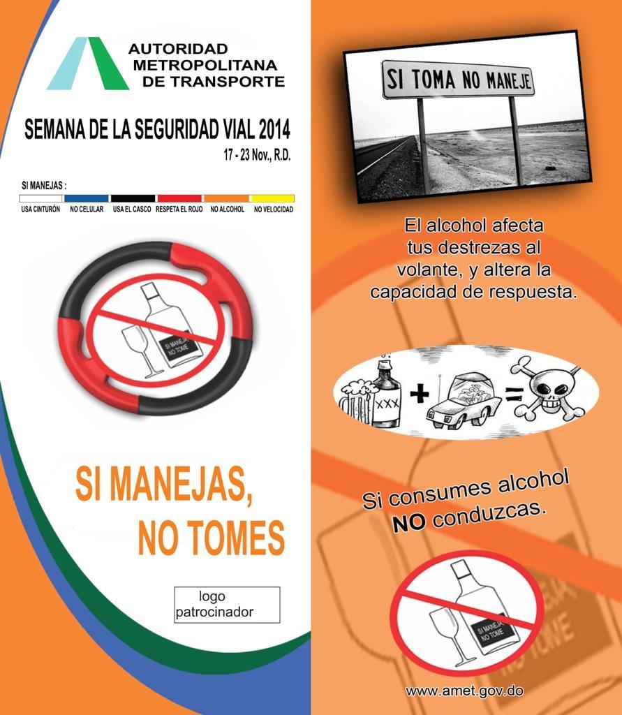 Continúa #SemanaSeguridadVial hoy con el llamado de atención de su bebes no manejes #UneteAlPacto #NoManejo @AMETRD http://t.co/NuWz4bOzgJ