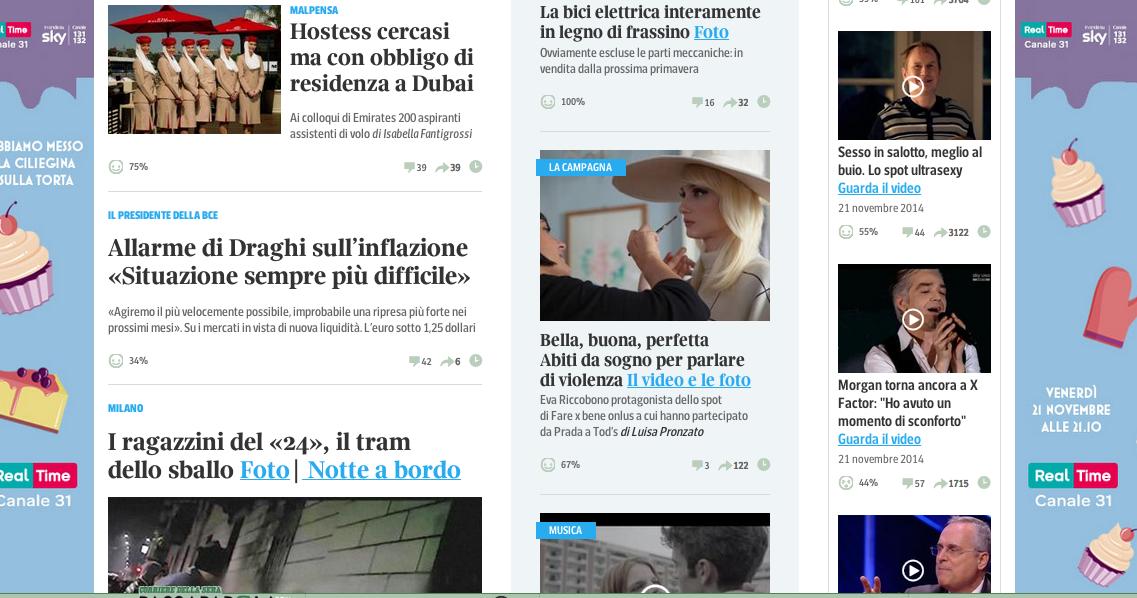 RT @FilmmasterProd: Oggi, nella home page di @Corriereit. #credevofosseamore #farexbene #filmmaster @EvaRiccobono->http://t.co/2IT9NxMCmU h…
