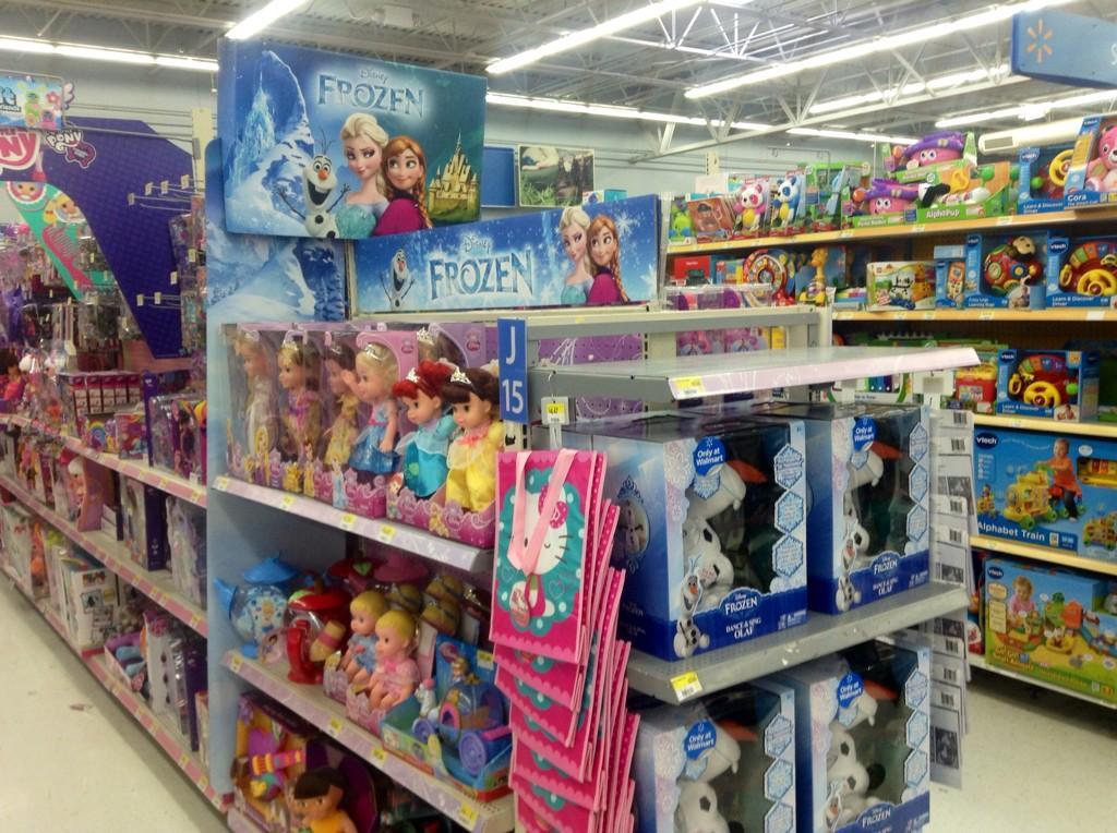 Walmart Toy Aisle Boys : Mike mozart on twitter quot disney frozen toys aisle end cap
