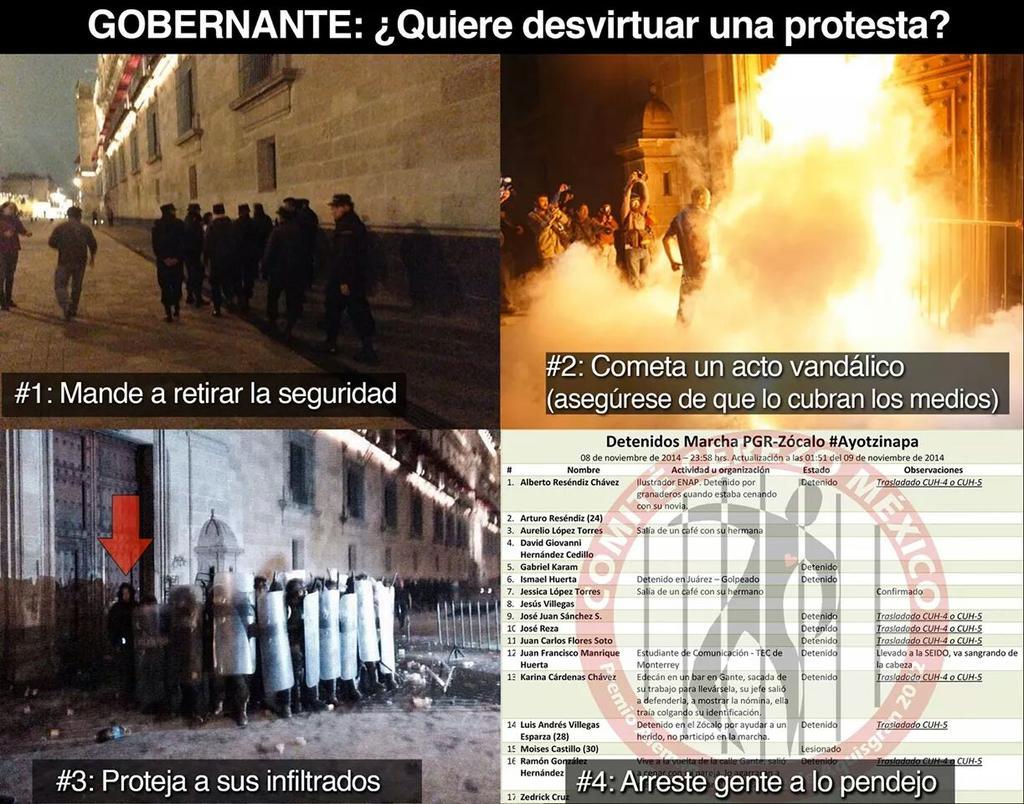 ¿Cómo desvirtuar una protesta? #Ayotzinapa --> @PM_308: http://t.co/QUoJE0ExDM