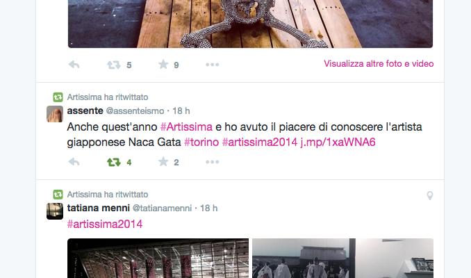 Artissima Torino twitter