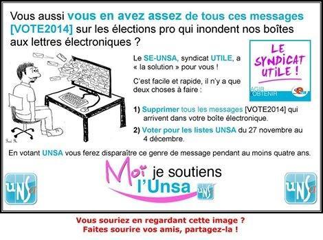 """""""Marre des mails pour les élections pro ? le SE Versailles vous donne la solution"""". B2BBwGvCYAAvBRo"""