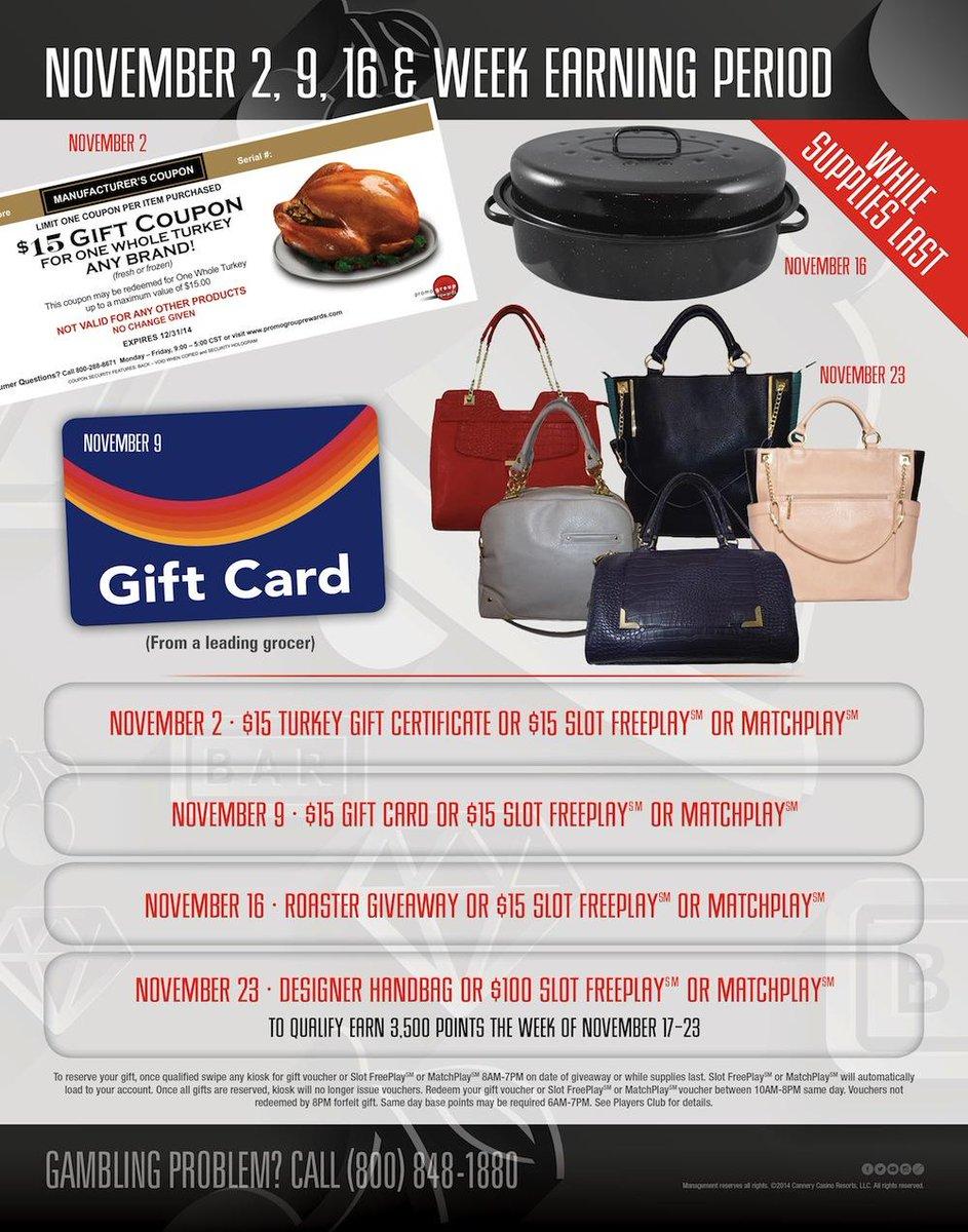 Meadows casino gift certificates casino hire cost