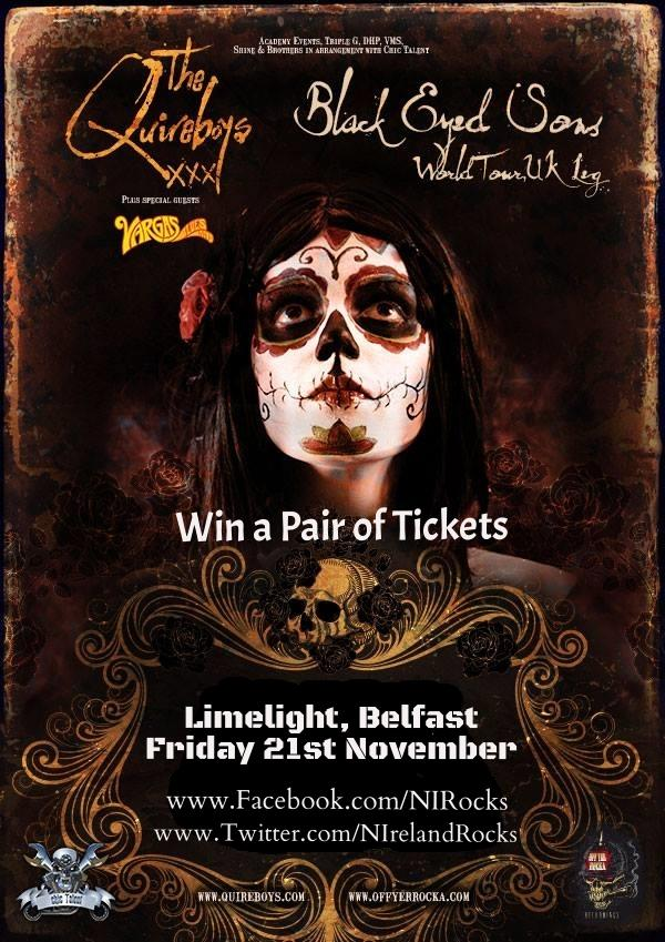 Retweet to enter the competition to win a pair of tickets for @TheQuireboys in @LimelightNI on 21st Nov. http://t.co/mCJ0eISMwr