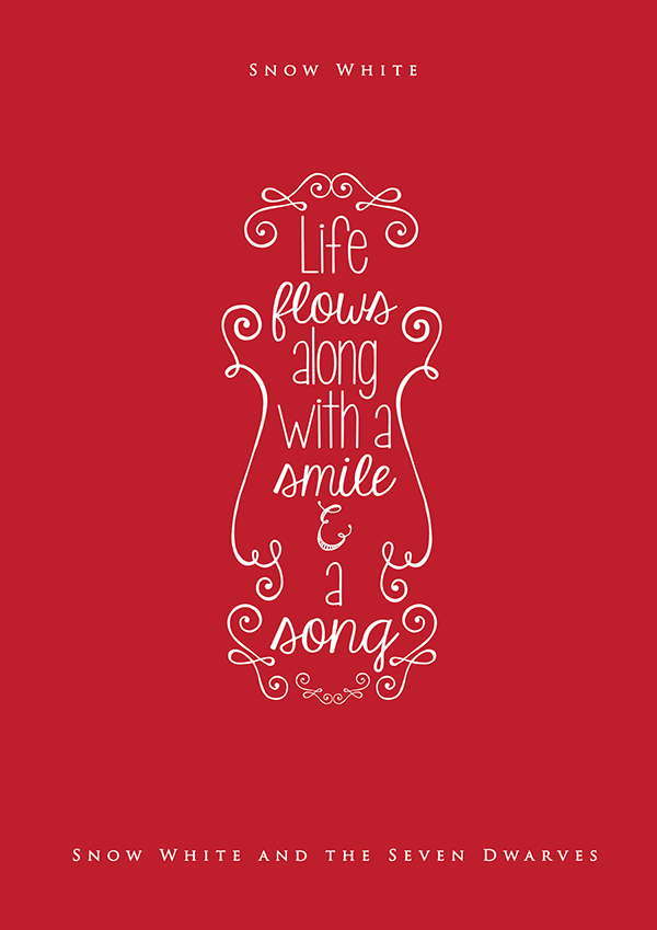 Design Bolts On Twitter Inspiring Typography Quotes From Disney