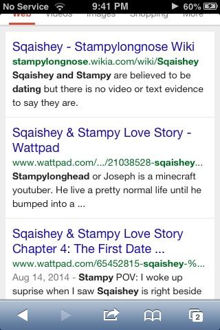 Stampy and squaishey dating proof