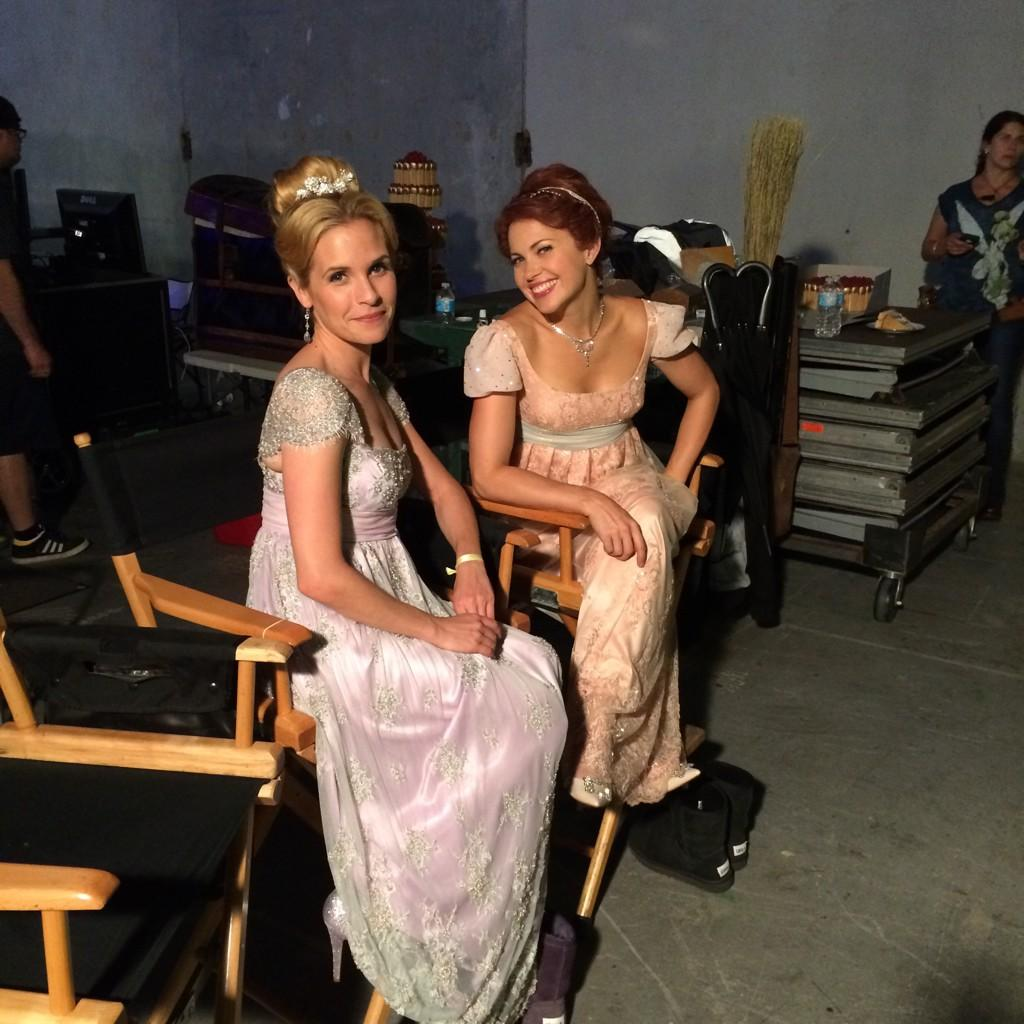 Me and @HuttonPascale always classy. Even between takes #OUAT @OnceABC http://t.co/HPsoXONDeN