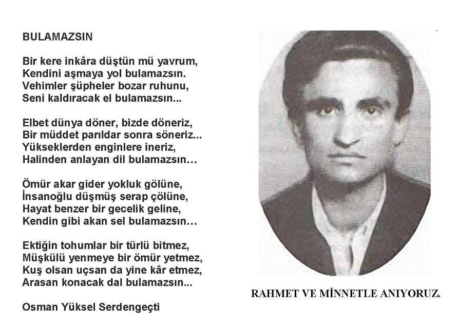 şair: Osman Yüksel Serdengeçti ile ilgili görsel sonucu
