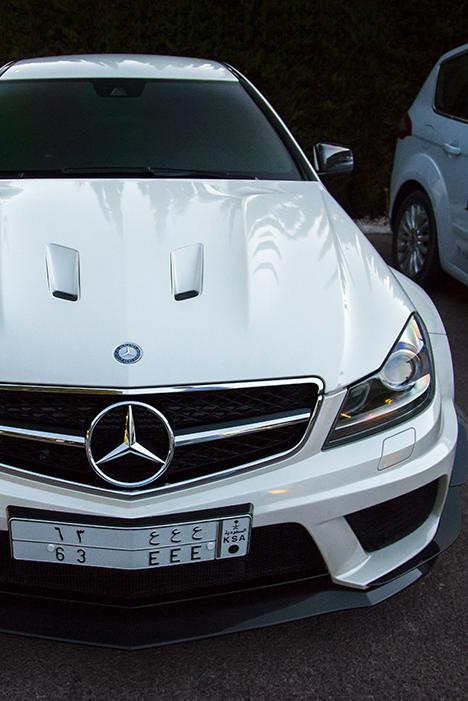 White Mercedes C63 😛