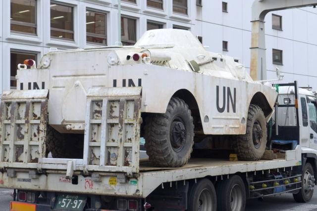 京葉道〜首都高でロシア製のBRDM2装甲偵察警戒車と遭遇。日本に輸入されたという噂は聞いていたが、まさか実物に出会うとは・・・。 pic.twitter.com/vukoBbq2gM