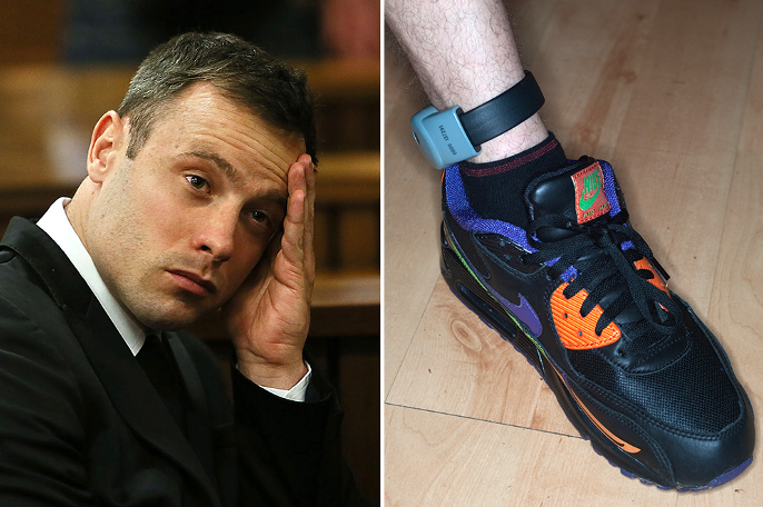 Oscar Pistorius 'denied early release' because he has no ankles to attach his electronic tag http://t.co/v75yOvs6U5 http://t.co/KTh7a5xhyv