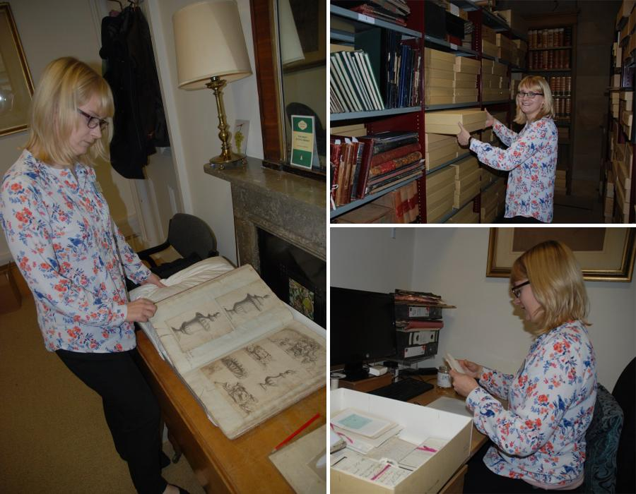 Louise reviewing, repackaging and returning documents #DayInTheLife #explorearchives http://t.co/61DpSBktb5