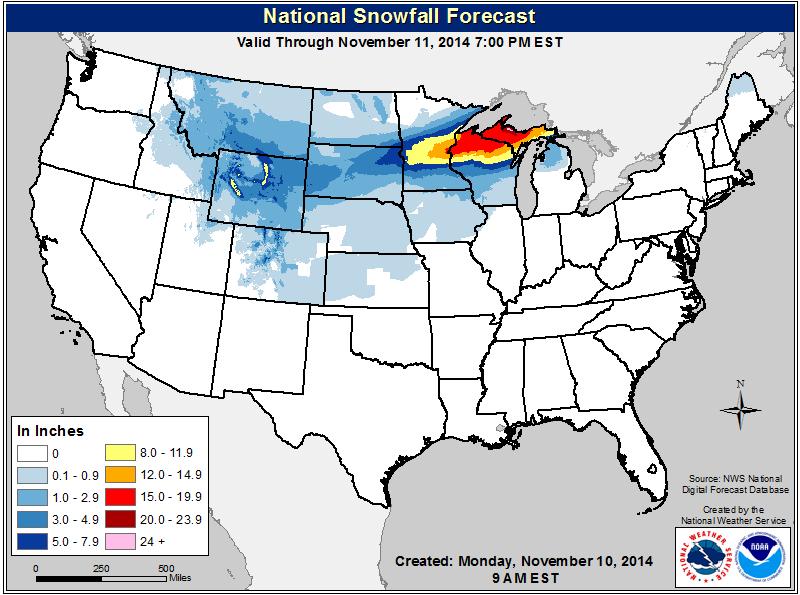 Uzivatel Nws Na Twitteru Heavy Snow Forecast Across Parts Of - Us-snow-forecast-map