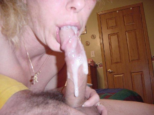 Mature oral cream pie