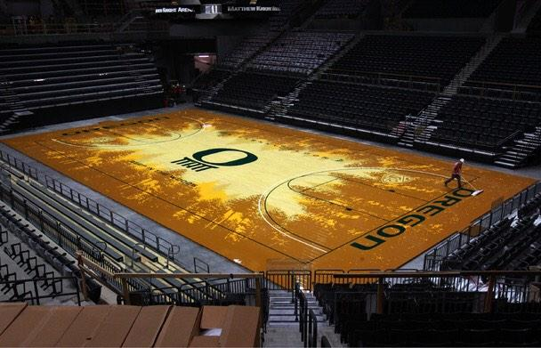 Quack Zone On Twitter Oregons Basketball Court Design May Be The