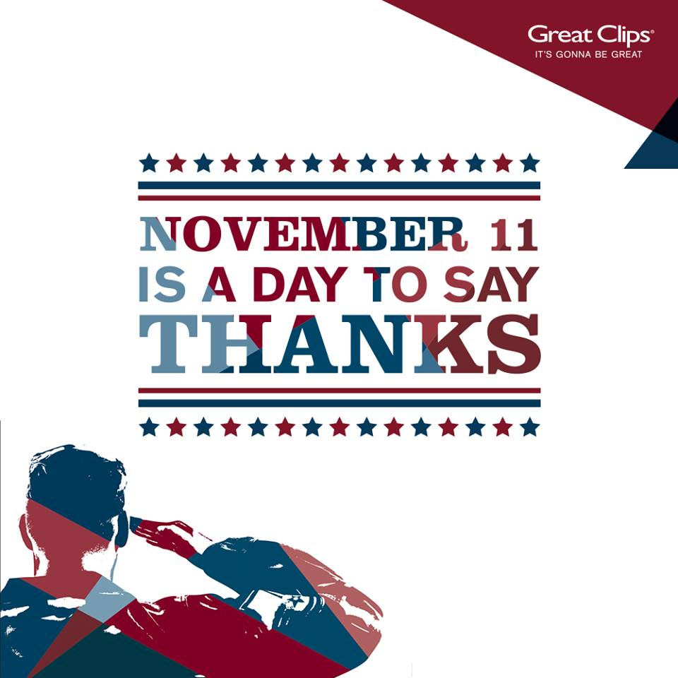 Say Thanks w us! Get a haircut tomorrow & you'll get a Free Haircut Card to give to a veteran. See you tomorrow! http://t.co/bnbozm8OF1