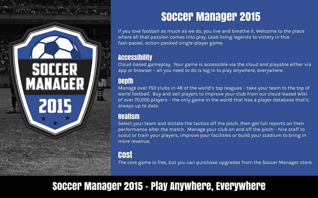 Our new single player game Soccer Manager 2015 will be launched this week. Retweet for a chance to win 25k SM Credits http://t.co/yZCcgcKaYv