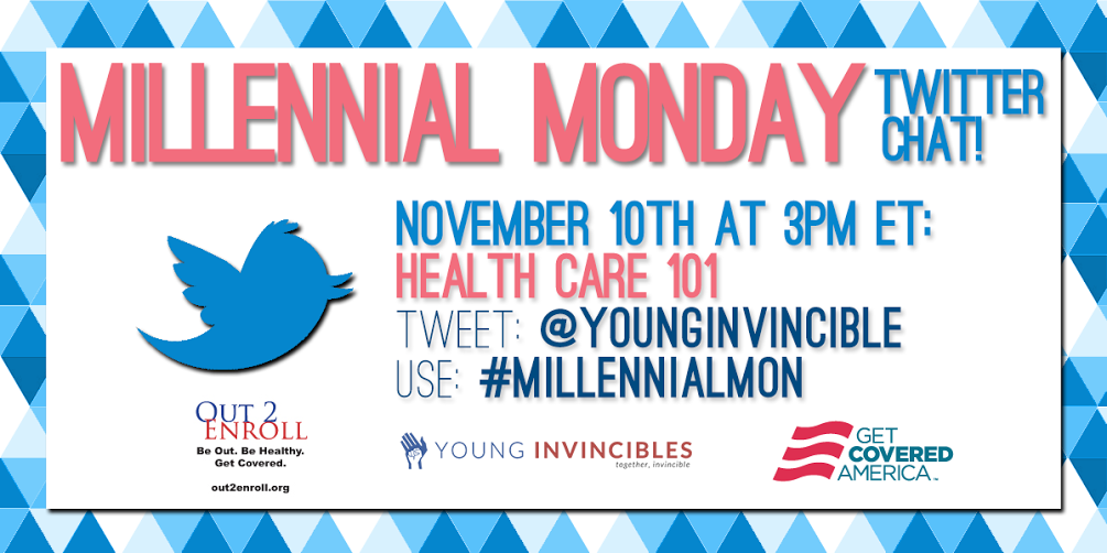 We'll be answering live #Obamacare questions in 5min! Follow #MillennialMon & @YoungInvincible. http://t.co/lnxUb1tjkX
