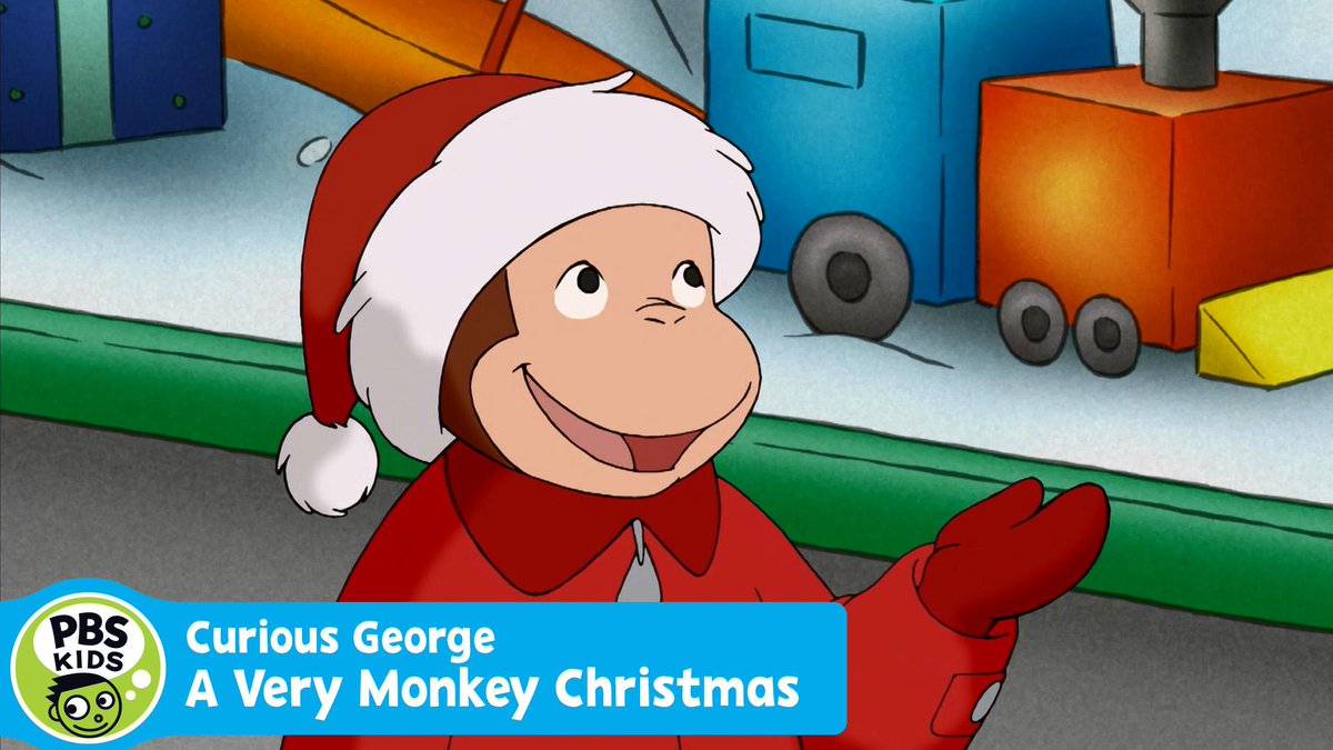pbs kids on twitter curious george a very monkey christmas