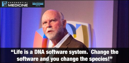 """Life is a DNA software system. Change the software and you change the species!"" - @JCVenter @JCVenterInst #xmed http://t.co/Vg1wzUbDw5"