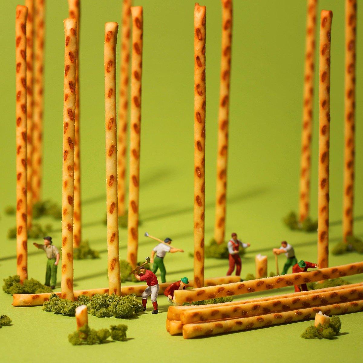 『大きく成長したプリッツ 収穫のとき』MINIATURE CALENDARの田中達也さん(@tanaka_tatsuya)にプリッツをテーマに作品を作っていただきました! #ポッキー1111 #ポッキープリッツの日 pic.twitter.com/qFrWhheD5k