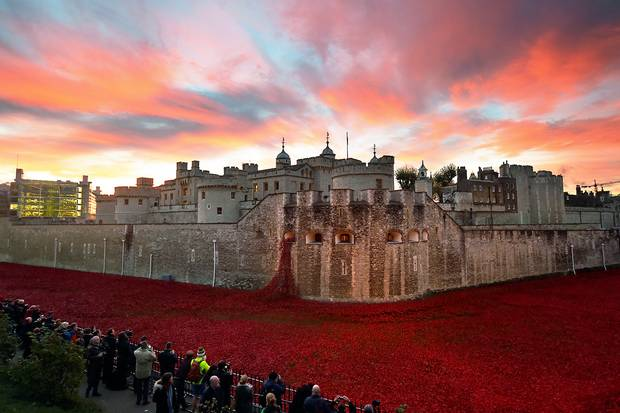 The last poppy has been planted at Tower of London as the UK falls silent for #ArmisticeDay http://t.co/jW7UROZQhQ http://t.co/Tto6tfYndJ