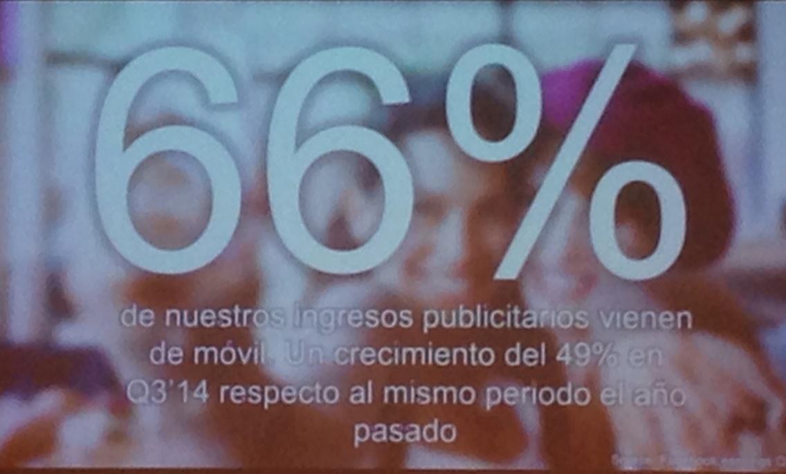 Facebook: hace dos años sin ingresos mobile y ahora el 66% by Sara Martinez de @facebook #bdigitalapps http://t.co/pW9XUksGn0