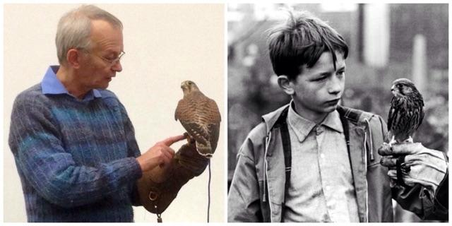 I met Dai Bradley today. This is a pic I took of him today & one from 45 yrs ago,in 'Kes'. #Barnsley #BarnsleyIsBrill http://t.co/fJfL6dtXro