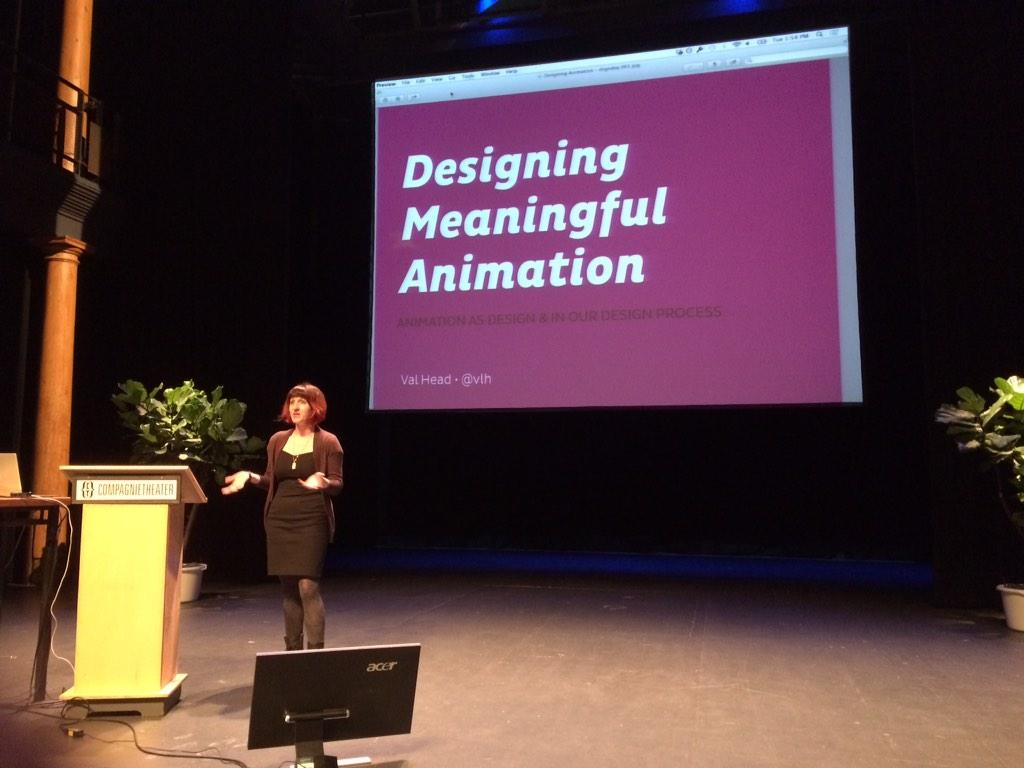 Great (css) animation session with @vlh at @dsgndayconf Amsterdam http://t.co/x3dnR8cL33