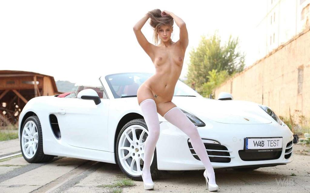 nude girls fueling car