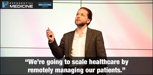 """We're going to scale healthcare by remotely managing our patients."" @DrJackUK @SentrianRPI #xmed http://t.co/LTFMXv5vLp"