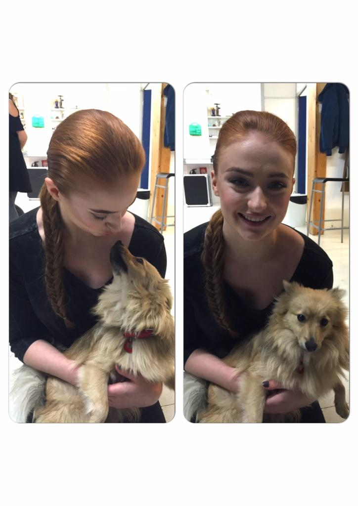 Great to meet you today @SophieT - we love this pic of you with our very own @GameOfThrones wolf pup