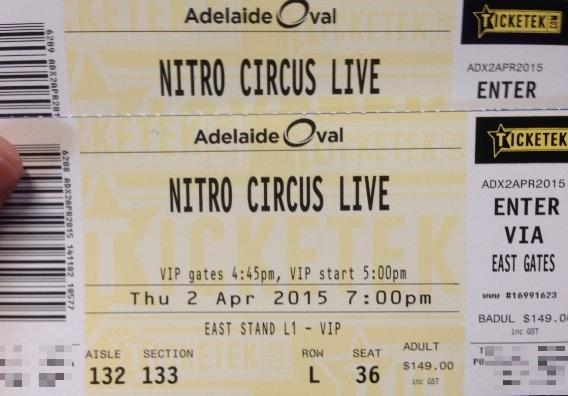 Well hopefully i dont get hit by a bus before April 2015...keen for a big show @NitroCircus #adelaide #vip