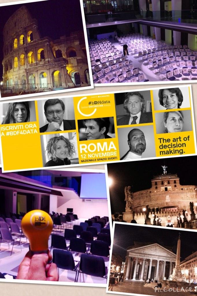 Tutto pronto per il #bDf4Data. Il team di Better #Decisions è a #Roma per l'evento dedicato al decision making e dati http://t.co/3S2xQCJAxU