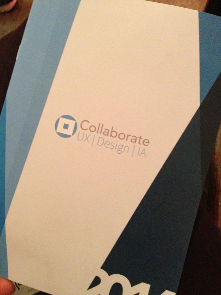 """@CollaborateConf Lets """"celebrate"""" UX, IA and digital design http://t.co/zCj9WiPqla"""