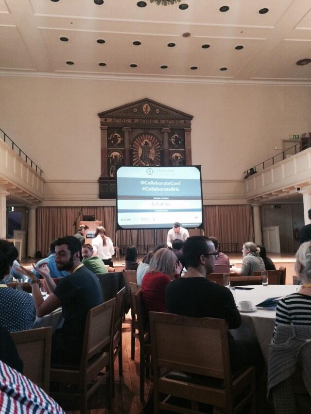 Arrived at @CollaborateConf - first talk with @nickf on The Nuances of UX about to begin. http://t.co/wODODh1wpb