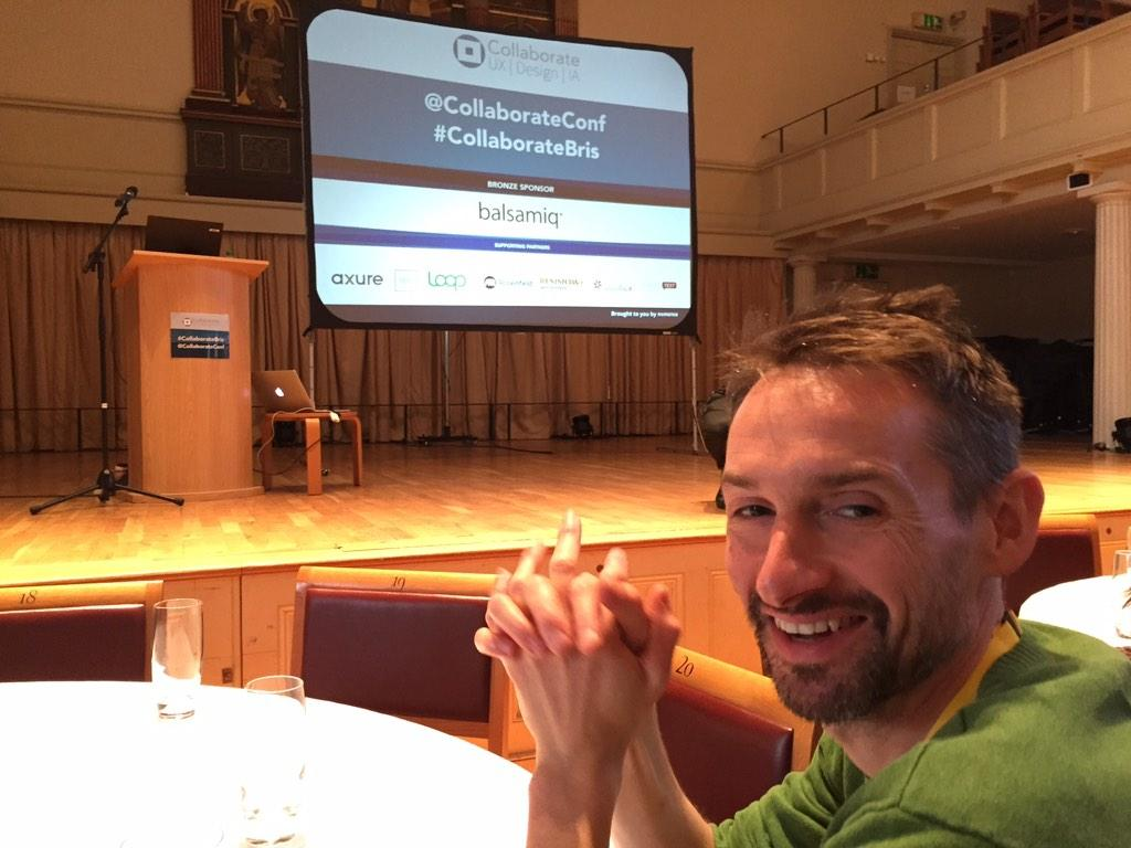 Just kicking off at #CollaborateBris http://t.co/OBjpE7o7OF